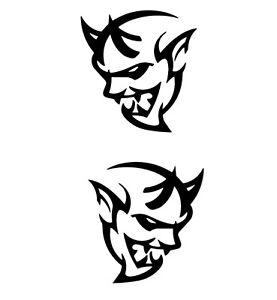 2x DODGE CHALLENGER LOGO sticker decal vinyl