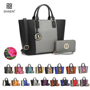 New-Womens-Handbags-Faux-Leather-Tote-Bag-Satchels-Shoulder-Bags-Large-Day-Purse