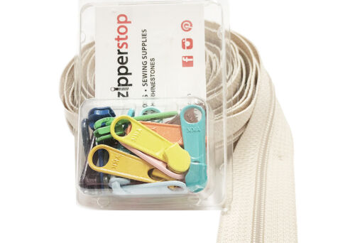 YKK Zippers by Yard #4.5 Coil Zippers Chain with Pulls Made in USA KIT Pack