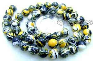 8mm-Yellow-Multicolor-Round-Agate-Beads-for-Jewelry-Making-DIY-Loose-Strands-15-034