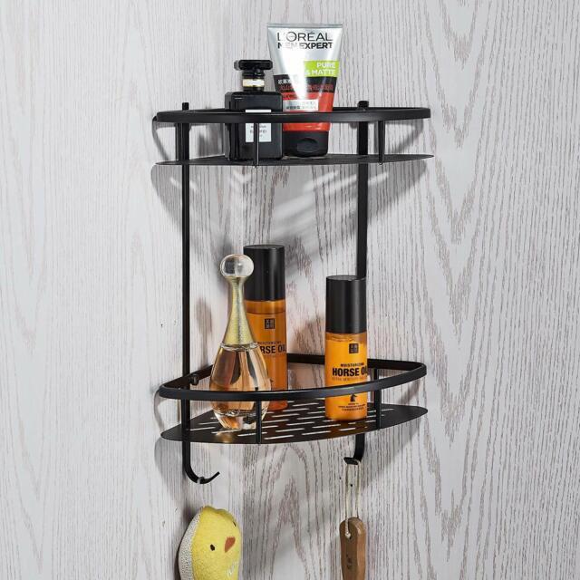 Tub Shower Tension Pole Caddy 4 Shelf Oil Rubbed Bronze Bathroom Accessory NEW