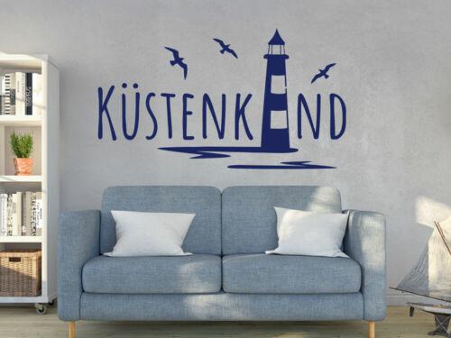 Wandtattoo Badezimmer Küstenkind Leuchtturm maritime Deko Wandaufkleber Bad Meer