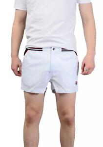 Fila Mens High Trade Shorts In White   eBay