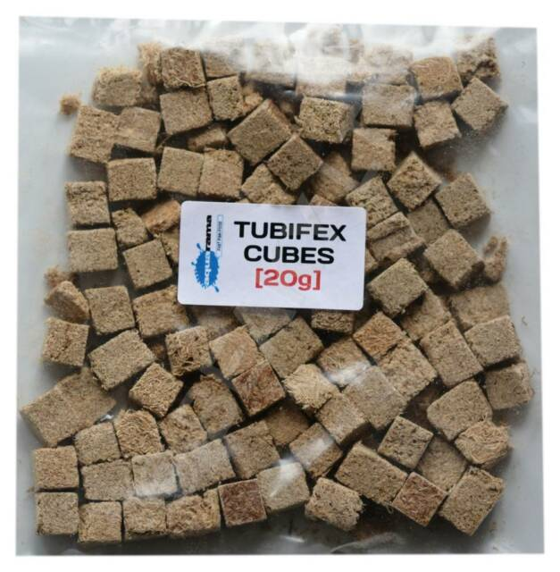 High Quality Freeze Dried Tubifex Worm Cubes Tropical Aquarium Fish Food 20g