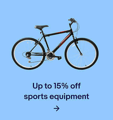 Up to 15% off sports equipment