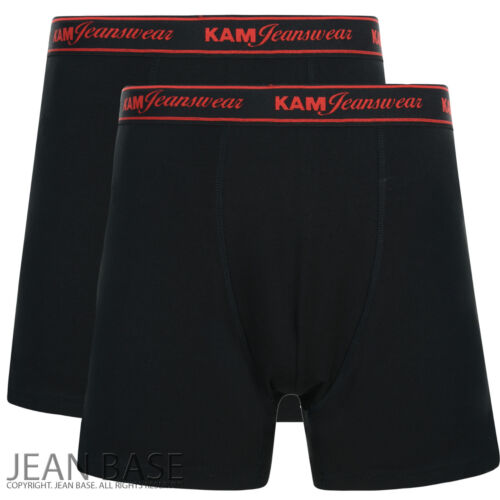 MENS KAM JEANS 2 PACK STRETCH UNDERWEAR BOXER SHORTS TRUNKS BIG KING SIZES 2-8XL
