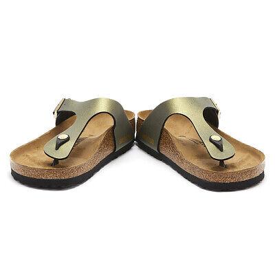BIRKENSTOCK Gizeh Chaussures Femme Icy Metallic Stone Gold Sandales Femme Été Chaussures | eBay