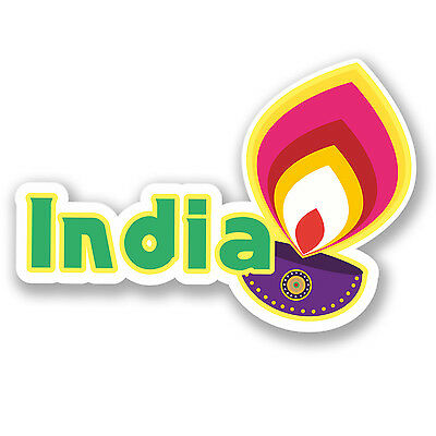 2 x India Vinyl Sticker Laptop Travel Luggage #4426