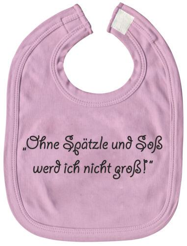 Latz Spucktuch Laetzchen rosa Ohne Spaetzle und Soss werd ich nicht gross 08474