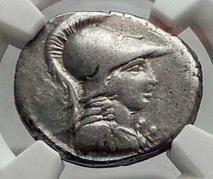 Roman-Republic-46BC-Authentic-Ancient-Silver-Coin-MINERVA-VICTORY-NGC-i61915