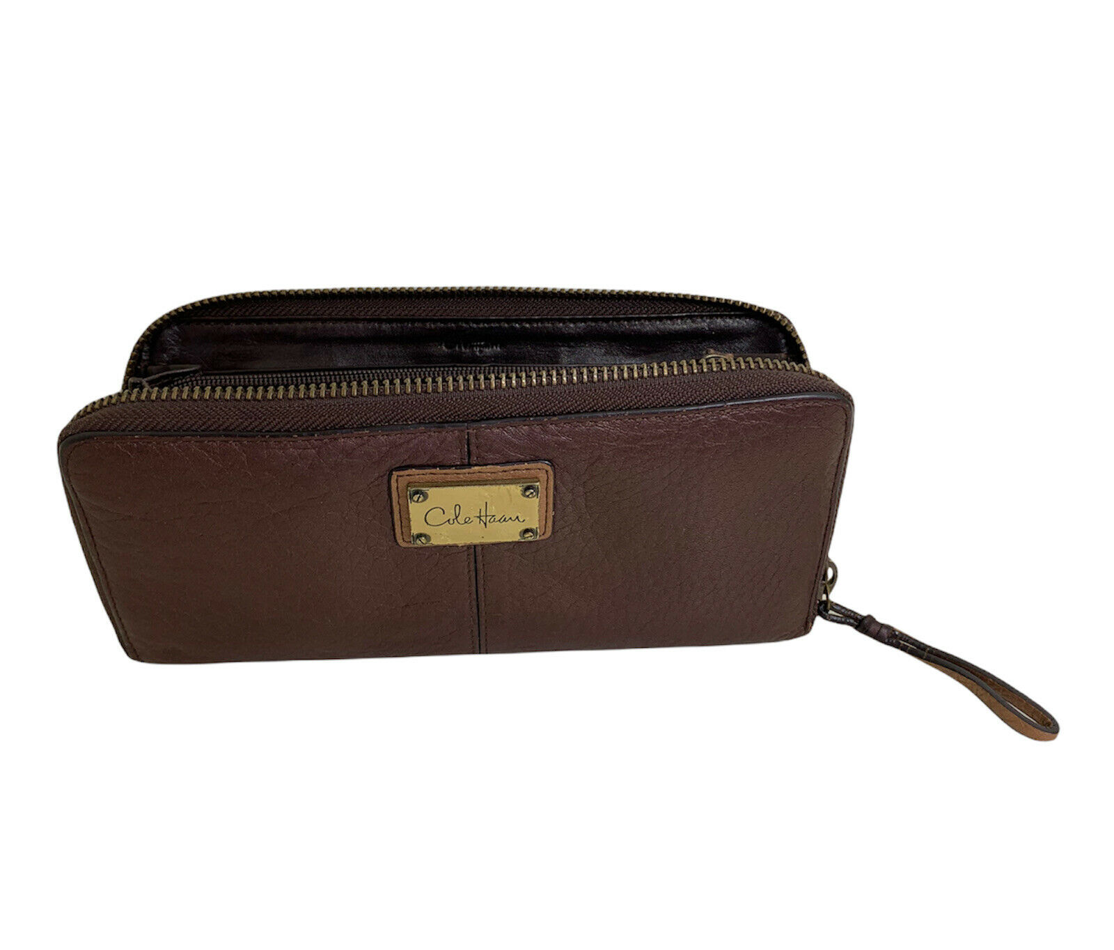 Cole Haan Womens Brown Leather Wallet Clutch
