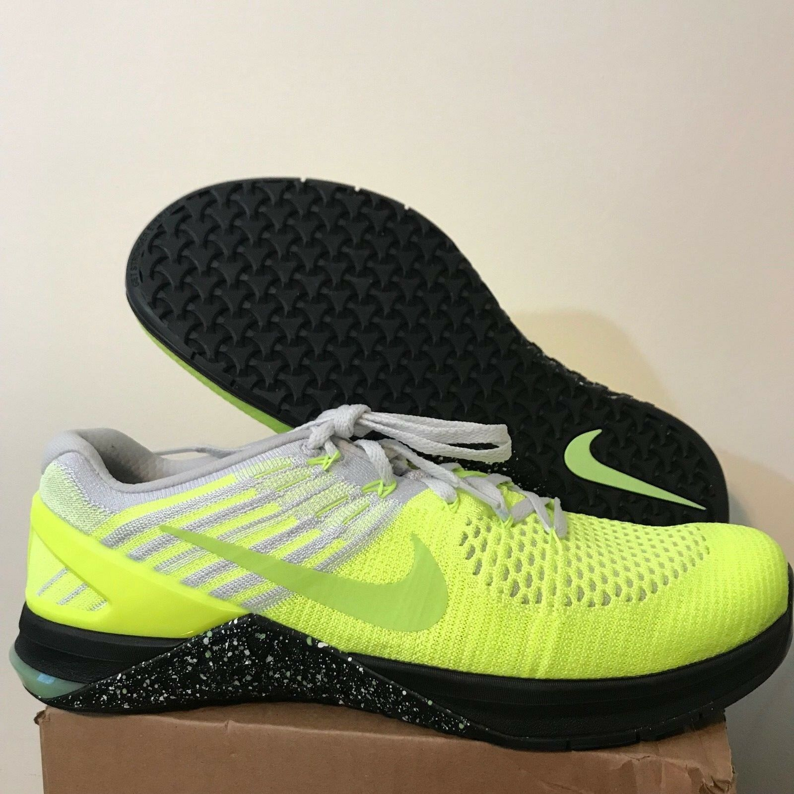 Nike Metcon DSX Flyknit Training Shoes Volt Ghost Green Black 852930-701