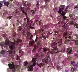 100g-Natural-beautiful-Purple-Fluorite-Crystal-Octahedrons-Rock-Specimen-China