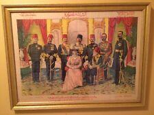 1912 Cairo Punch King George V, Kedive,Ottoman Princes Port Said A.H. Zaki Print