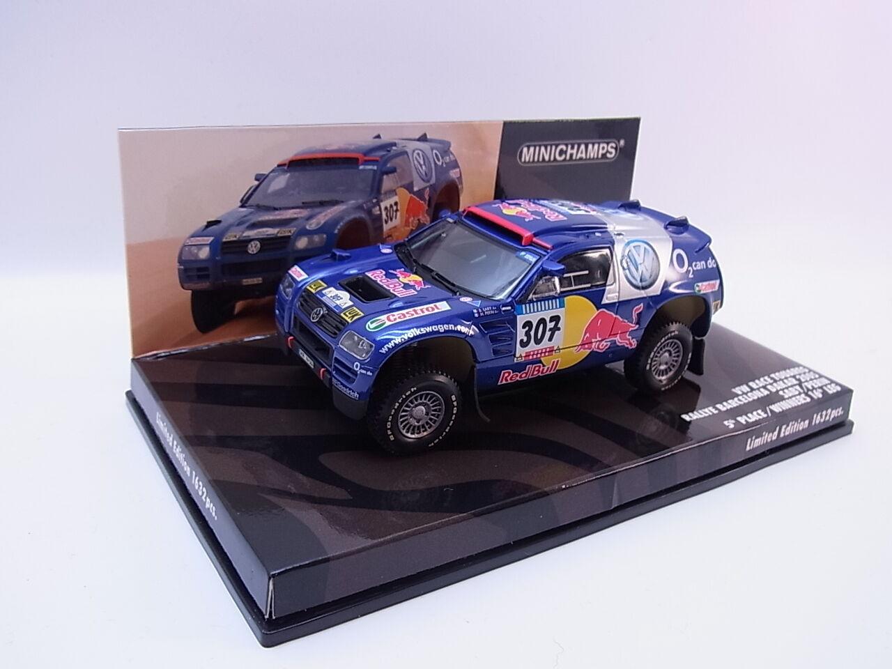 Lot 26219   MINICHAMPS 436055307 VW Race Touareg Dakar 2005 Voiture Miniature 1 43 neuf dans sa boîte