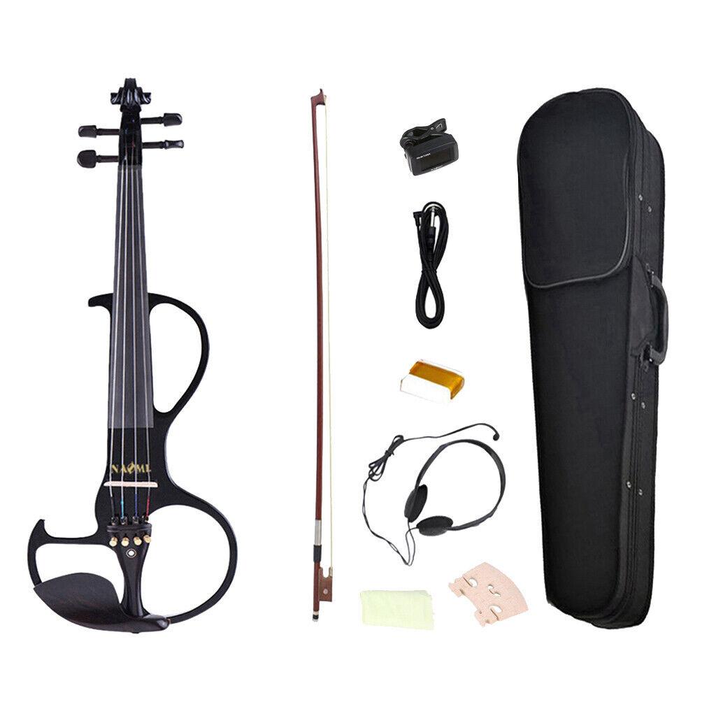 Violino elettrico con ancore arco silenzioso + caso organizzatore di