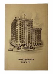 Hotel-Park-Plaza-New-York-City-50-West-77th-Street-Vintage-Postcard-Unposted