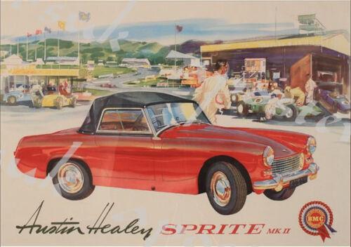 Vintage Austin Healy Sprite Advertisement Poster A3//A4 Print