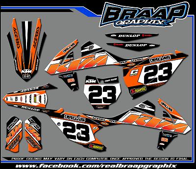 EVOLV Team Racing Graphics kit compatible with KTM 2016-2017 SXF