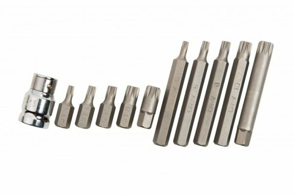 11 Pezzi Standard & Lungo Spline Po' Set & 1.3cm Drive Adattatore - M5 M6 M8 M10