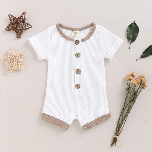 Summer Newborn Baby Boy Girls Cotton Bodysuit Romper Jumpsuits Playsuits Outfits