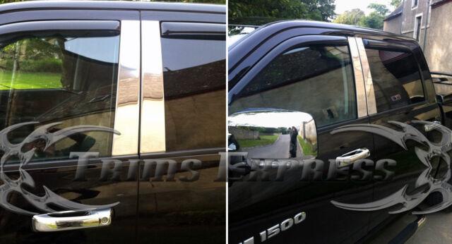 2009-2018 Dodge Ram 1500/2500 Crew Cab Door Molding Accent Pillar Post Trim 4Pc