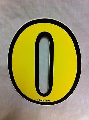 "Old Vintage BMX Number plate stickers Schwinn Numbers /""0/"" NOS circa 1982"