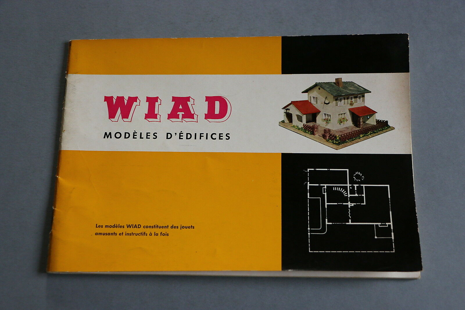 X480 WIAD Train catalogue maquette 38 pages 21*14,8 cm F 1er catalogue français