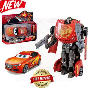Cars Lightning Mcqueen Transformers Robot Toy Kids Toys Disney Model Robot 2020 Ebay