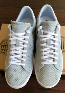 60627ce9a630 Size 10 Converse All Star Light Blue Leather Sneakers New Womens ...