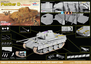 Dragon-6945-1-35-German-Sd-Kfz-171-Leopard-Tank-D-type-Antimagnetic-Armor-2in1