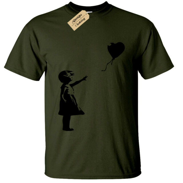 Banksy Vader Balloon Mens T Shirt Graffiti Urban Art Style