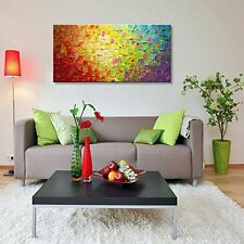 Large Modern Contemporary Oil On Canvas Painting Abstract Wall Art Handmade USA