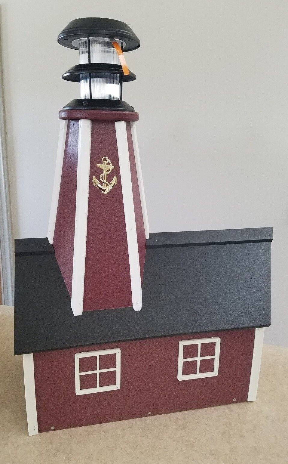 Amish Crafted Solar Powerot Poly Lighthouse Mailbox - Lancaster, PA