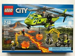 LEGO-Volcano-Supply-Helicopter-City-60123-Retired-New-Sealed