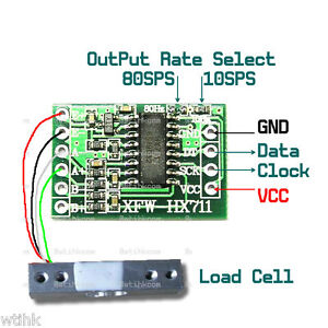 Details about HX711 Load Cell Amplifier Module for MCU AVR Arduino