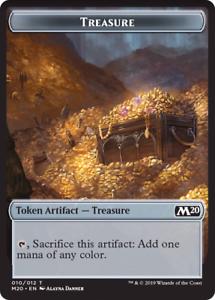 Mint//NM Pack Fresh Magic MTG M20 Treasure Token Core Set 2020 x4