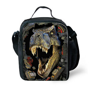Dinosaur Insulated Thermal Cooler Lunch Box Carry Tote Picnic Case Storage Bag