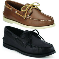 Mens Sperry Top-sider Authentic Original Ao A/o 2 Eye Genuine Leather Boat Shoes