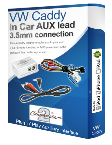 iPod iPhone MP3 player VW Caddy AUX lead VW Auxiliary adaptor interface kit
