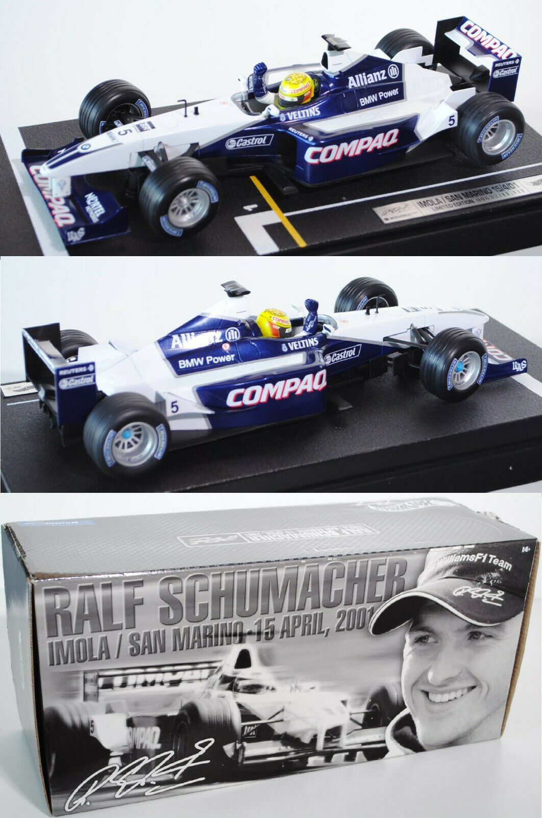 Hot Wheels Racing 55697 Williams FW23 Ralf Schumacher 1 18 OVP limitiert