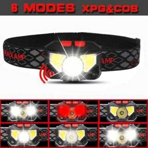 85000Lm Motion Sensor LED Headlamp Headlight USB Rechargeable Head Lamp Torch Bs