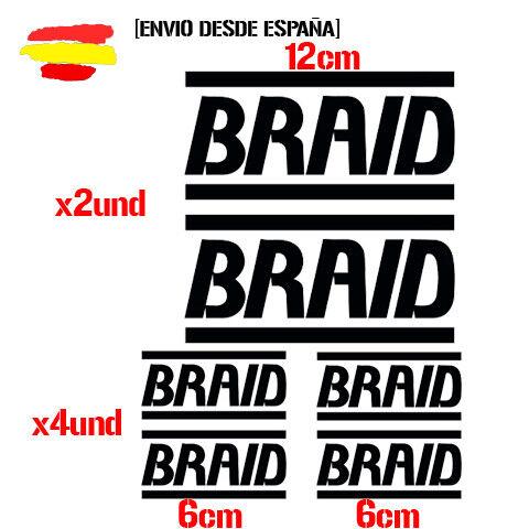 braid llantas kit de 6 Tuning ADHESIVO PEGATINA STICKER AUTOCOLLANT ADESIVI