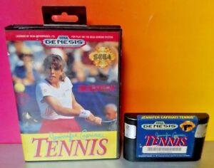 Jennifer-Capriati-Tennis-Sega-Genesis-Game-Rare-Tested-Works-great