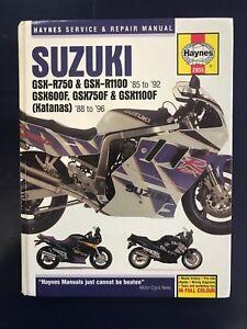 SUZUKI 85-92 GSX R750 R1100 Katanas HAYNES Service Repair MANUAL ISBN 1859602843