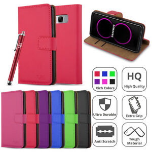 Luxury-Leather-Flip-Case-Wallet-Book-Card-Cover-For-Samsung-Galaxy-Phones