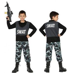 Déguisement Garçon Policier SWAT 5 6 Ans Enfant Cinéma Police film ... afa49ad4dc72