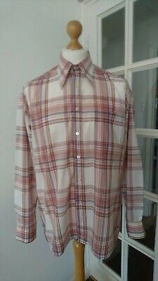 Qualificato Vintage Da Uomo Tartan Check Shirt By Jassij Atelier 1970s 80s Taglia L/xl Retrò-mostra Il Titolo Originale