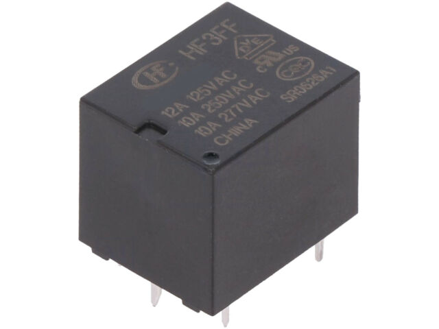 Relais elektromagnetisch 10A//277VAC SPDT USpule 24VDC  10A HF3FF//024-1ZST Ele