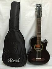 12-String Bajo Sexto Acoustic Electric Guitar, With Gig Bag, Brand New